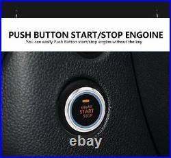 12V Car Engine Start Push Button Switch Ignition Starter Kit Anti-theft Alarm