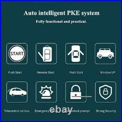 12V Car Keyless Entry Engine Start Alarm System Push Button Remote Starter Stop