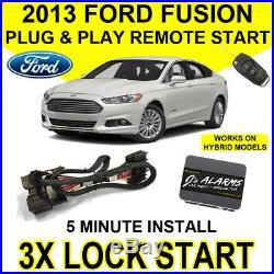 2013 Ford Fusion Remote Start Car Starter Plug & Play System Hybrid & Gas FO2F