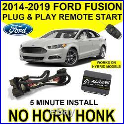 2014-2019 Ford Fusion Remote Start Car Starter Plug & Play Hybrid & Gas FO2N