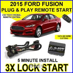 2015 Ford Fusion Remote Start Plug and Play Easy Install Car Starter 3X Lock FO2