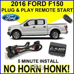 2016 Ford F-150 Remote Start Plug & Play Install F150 No Horn Honk Starter FO2N