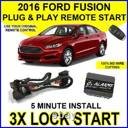 2016 Ford Fusion Remote Start Plug and Play Easy Install Car Starter 3X Lock FO2