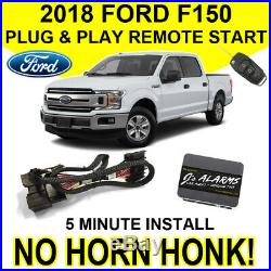 2018 Ford F-150 Remote Start Plug & Play Install F150 No Horn Honk Starter FO2N