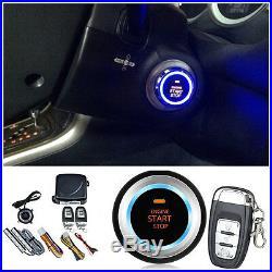 Car Alarm System Keyless Entry Engine Start Push Button Remote Starter 8 parts