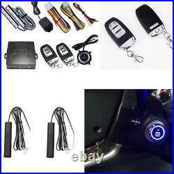 Car Alarm System Keyless Entry Engine Start Push Button Vibration Remote Starter