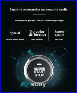Car Engine Ignition Start Push Button Remote Control Keyless Entry Starter Kit