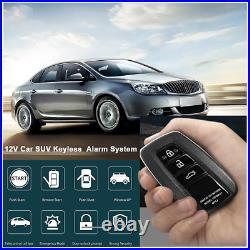 Car Keyless Entry Anti-theft Alarm System Push Engine Button Remote Starter Stop