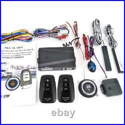 Car Keyless Entry Engine Start Alarm System Push Button Remote Starter Stop Kit