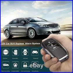 One-Button Keyless Entry Car Engine Start Lock Lgnition Starter Alarm System Kit