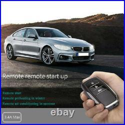 PKE Keyless Entry Car Push Start Button RFID Engine Starter Car Alarm Start Stop
