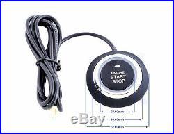 Push Button Car Engine Starter Alarm Security System Kit Sound and Light Alarm